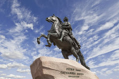 Saint-Petersburg. the equestrian statue of Peter the Great,. Known as the Bronze Horseman and installed in 1782 on the Senate Square Royalty Free Stock Images