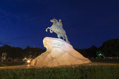 Saint-Petersburg, the equestrian statue of Peter the Great, Royalty Free Stock Image