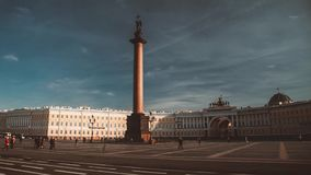Saint-Petersburg. the equestrian statue of Peter the Great. Known as the Bronze Horseman and installed in 1782 on the Senate Square stock video footage
