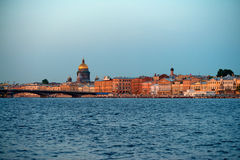 Saint-Petersburg in the evening Stock Photo