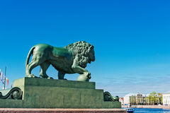 Saint-Petersburg, the figure of a watchdog lion Stock Images