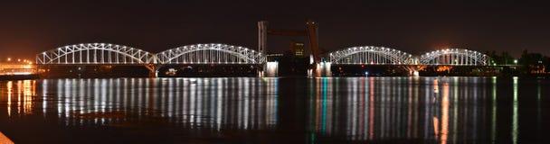 Saint Petersburg, the Finland railway bridge. View of the the Finland railway bridge bridge with the right bank of the Neva River Stock Photography