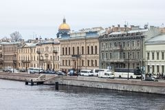 SAINT PETERSBURG, RUSSIA - NOVEMBER 02, 2014: Old historical bui. In Saint Petersburg formerly named Leningrad. The city was founded by Tsar Peter the Great on Royalty Free Stock Images