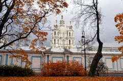 Saint-Petersburg in gold autumn Royalty Free Stock Images