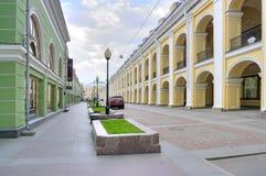Saint Petersburg. Great Gostiny Dvor. SAINT PETERSBURG, RUSSIA - June 03.2015: Ancient building Great Gostiny Dvor in historical part of city Stock Images