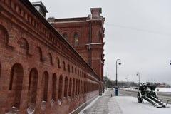 Saint Petersburg gun winter Museum Stock Photo