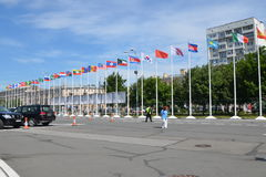 Saint-Petersburg, International Maritime Defence Show 2015 (IMDS-2015) Stock Images