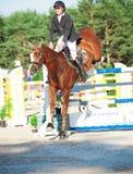 SAINT PETERSBURG-JULY 05: Rider Andrius Petrovas on Zuko S Royalty Free Stock Image