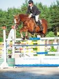 SAINT PETERSBURG-JULY 05: Rider Andrius Petrovas on Zuko S Stock Images
