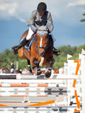 SAINT PETERSBURG-JULY 05: Rider Gunnar Klettenberg on Lanse S in Stock Photo