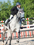 SAINT PETERSBURG-JULY 05: Rider Maria Khimchenko on Calina in th Stock Photo