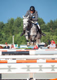 SAINT PETERSBURG-JULY 05: Stasys Jasas on Patrol V in the CSI3*- Stock Image