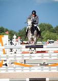 SAINT PETERSBURG-JULY 05: Stasys Jasas on Patrol V in the CSI3*- Stock Photography