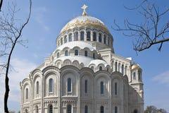 Saint Petersburg, Kronstadt. Naval Cathedral. Royalty Free Stock Images