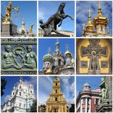 Saint Petersburg landmarks collage Stock Photography