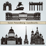 Saint Petersburg landmarks and monuments Royalty Free Stock Photos