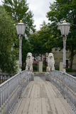 Saint-Petersburg, the Lion bridge Royalty Free Stock Image