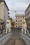 Saint-Petersburg, the Lion bridge Royalty Free Stock Photo