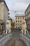 Saint-Petersburg, the Lion bridge Royalty Free Stock Photo