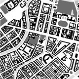 Saint Petersburg maps. Map of the center of Saint Petersburg black and white Stock Photography