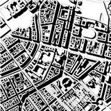 Saint Petersburg maps. Map of the center of Saint Petersburg black and white Stock Photos