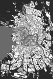 Saint Petersburg maps. Vector map Saint Petersburg black and white Royalty Free Stock Photography