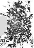 Saint Petersburg maps. Vector map Saint Petersburg black and white Royalty Free Stock Image