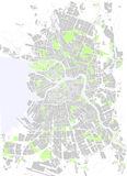 Saint Petersburg maps. Vector map Saint Petersburg park gray and white Royalty Free Stock Images