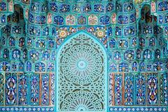 Saint Petersburg Mosque. Mosaic decoration of the Saint Petersburg Mosque in the Russia Stock Photography