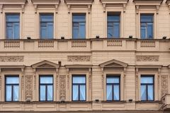 Old historical building in the center of Saint Petersburg. Saint Petersburg between 1924 and 1991 named Leningrad. The city was founded by Tsar Peter the Great Stock Image