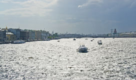 Saint Petersburg. Neva River Stock Photos