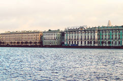 Saint Petersburg from Neva river. Russia Stock Image