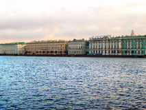 Saint Petersburg from Neva river. Russia Royalty Free Stock Images