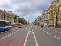 Saint-Petersburg. Nevsky prospect avenue. Saint-Petersburg. Nevsky prospect is the main street of the city Royalty Free Stock Photo