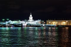 Saint Petersburg in the night Stock Image