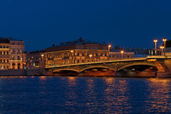 Saint Petersburg by night Royalty Free Stock Photo