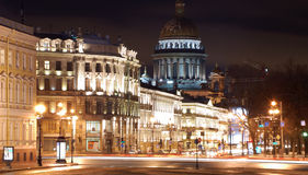 Saint-Petersburg in the nighttime royalty free stock photo