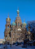 Saint Petersburg. The Orthodox Temple of the Resurrection (Savior-on-Spilled-Blood). Saint Petersburg. View of the Russian style Orthodox Temple of the Royalty Free Stock Image