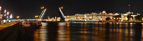 Saint-Petersburg, Palace Bridge Stock Photo