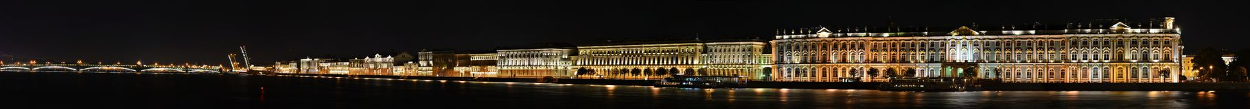 Saint Petersburg, Palace Embankment Royalty Free Stock Photos