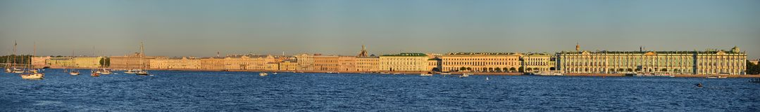 Saint Petersburg, Palace Embankment Royalty Free Stock Images