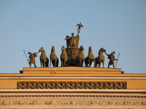 Saint-Petersburg, Palace Square (Dvortsovaya Ploshchad) Stock Photography