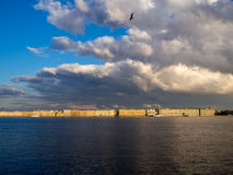 Saint-Petersburg panorama and Neva river Stock Images