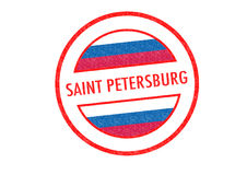 SAINT PETERSBURG. Passport-style SAINT PETERSBURG rubber stamp over a white background Royalty Free Stock Photo