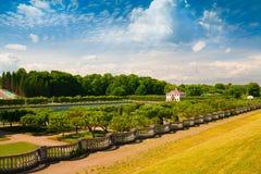 saint petersburg Peterhof krajobrazu pałac Zdjęcia Stock