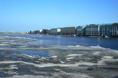Saint-Petersburg. River Neva. Stock Image