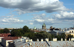 Saint Petersburg roofs. View, Russia Royalty Free Stock Photo