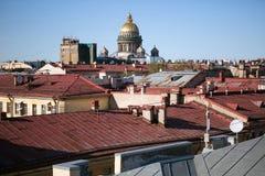 Saint Petersburg roofs Stock Photo