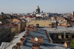 Saint Petersburg roofs Royalty Free Stock Image