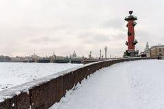 Saint Petersburg rostral column landmark Stock Photography